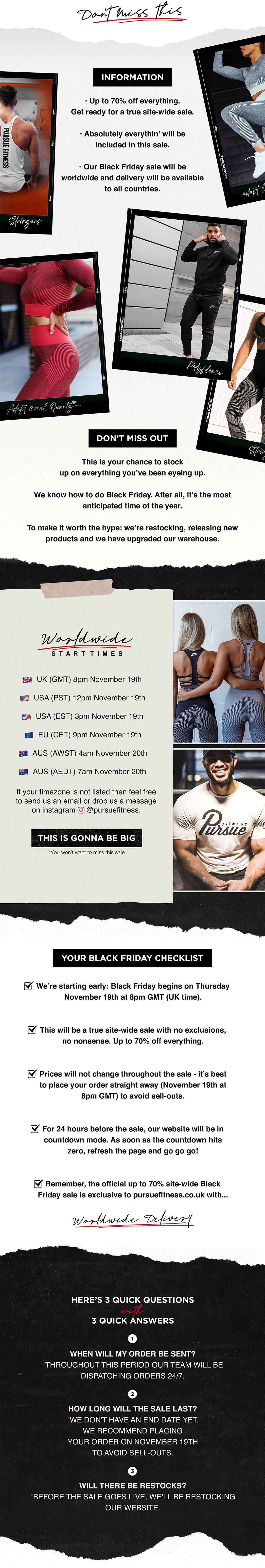 Pursue Fitness Black Friday sale is coming