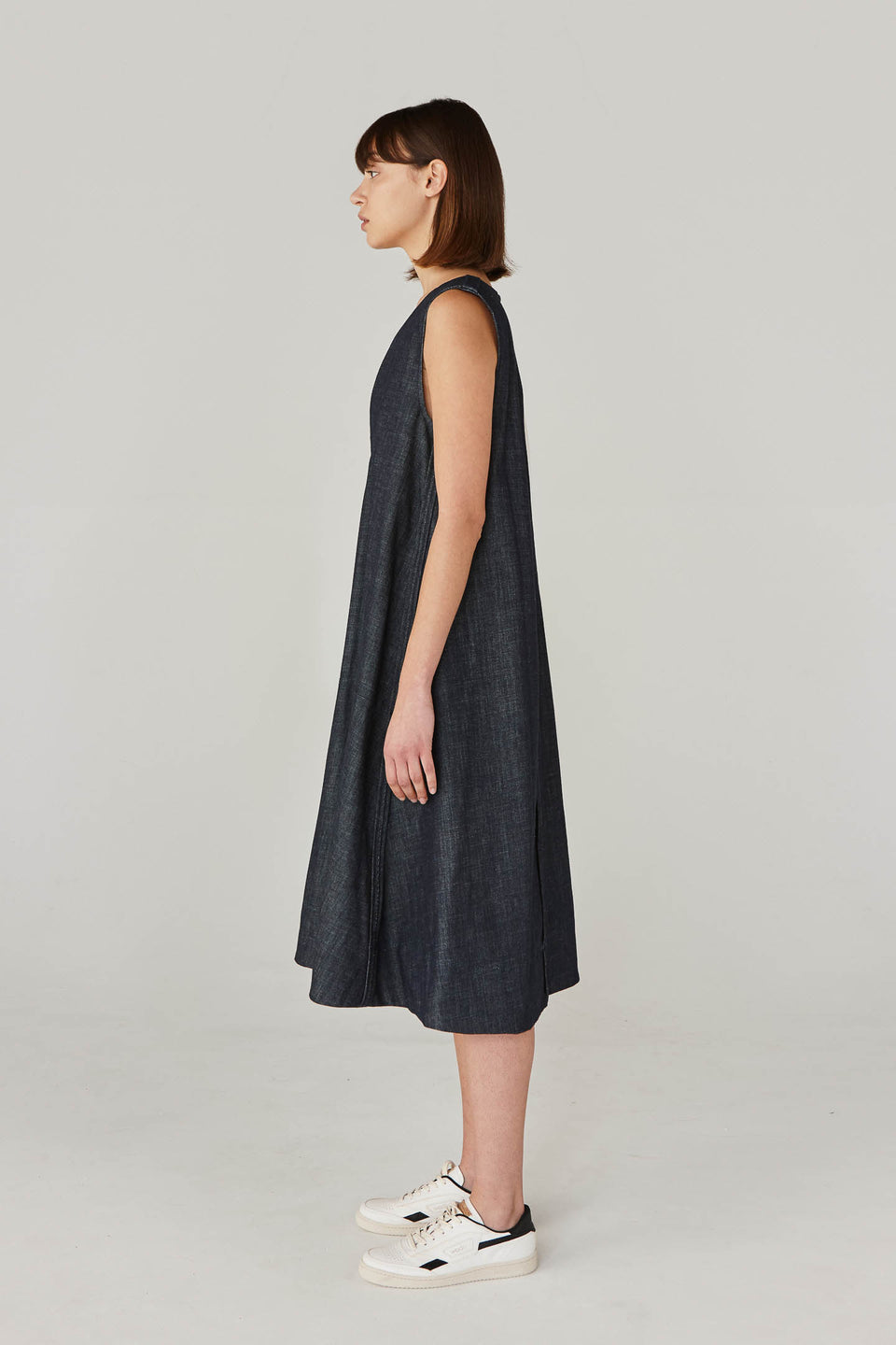"""A"" LINE DENIM DRESS"