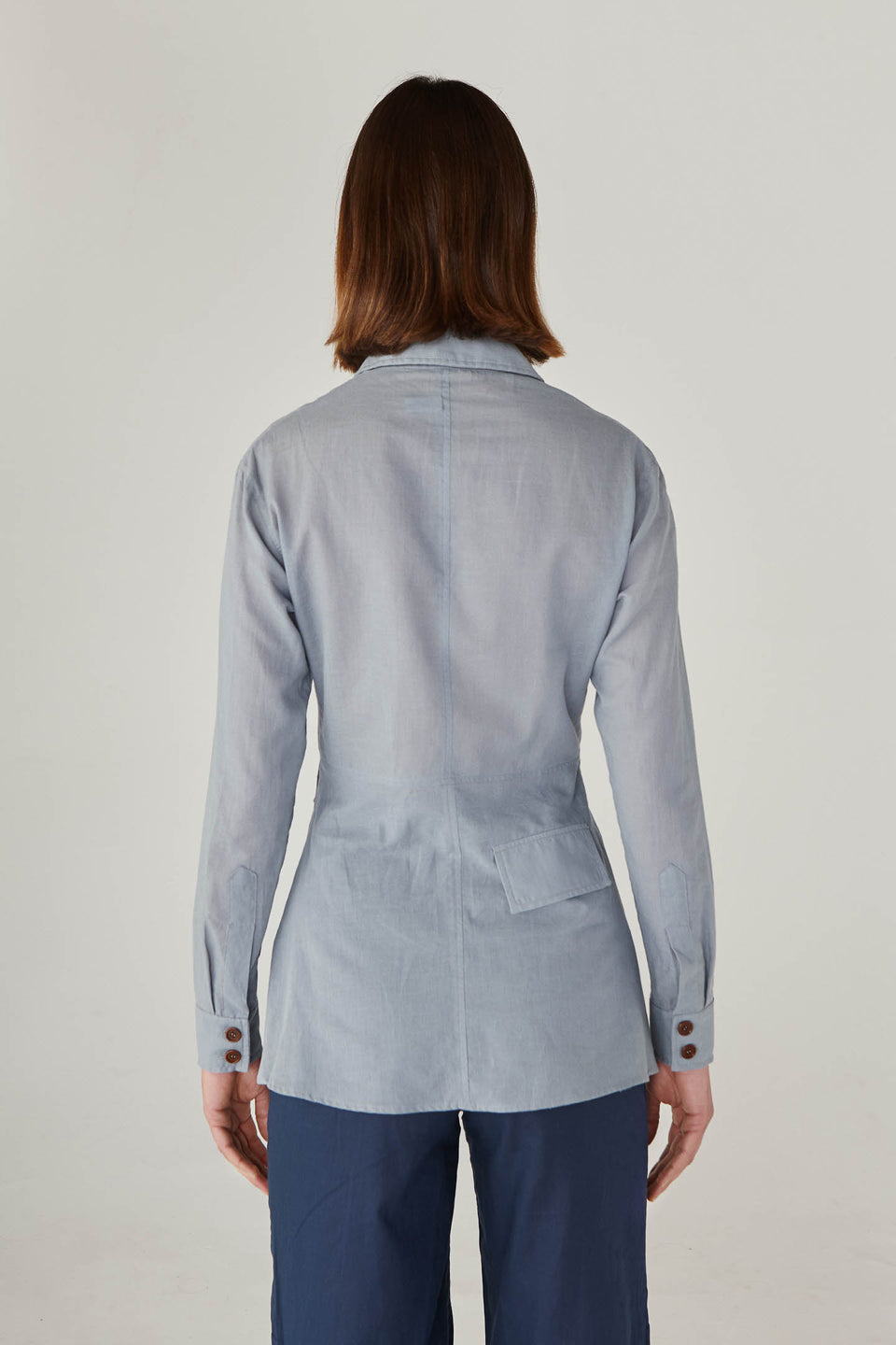 POCKET BLUE SHIRT