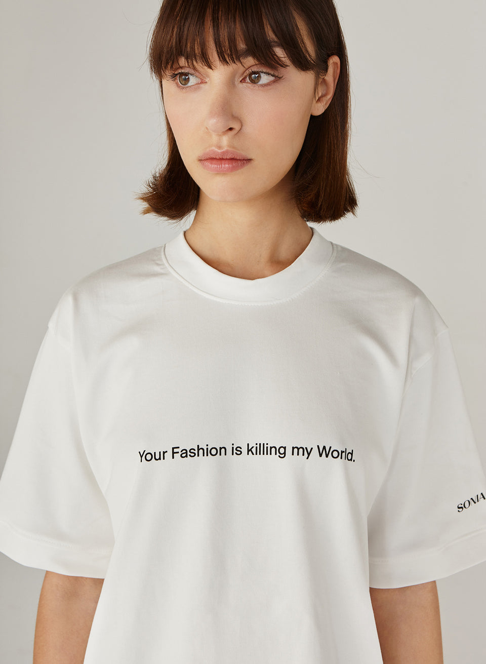 """YOUR FASHION IS KILLING MY WORLD"" T-SHIRT"