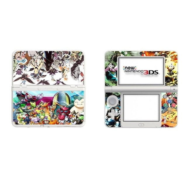 Pokemon Decal Stickers for NEW Nintendo 3DS