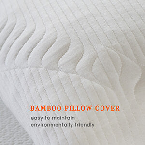 the combination pillow with bamboo cover