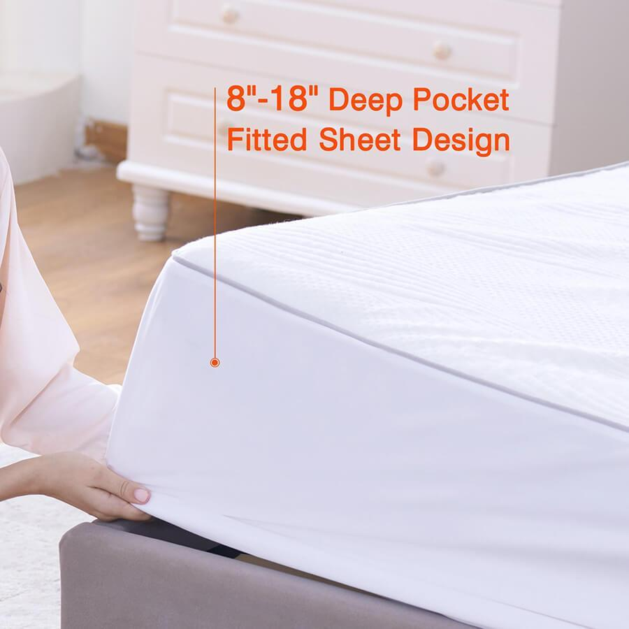 Sweet Night Best Mattress Topper with Fitted Sheet