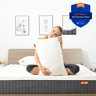 The Bamboo Bamboo & Charcoal Memory Foam Adjustable Pillow