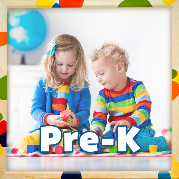 The Canadian Curriculum Press Pre-Kindergarten workbook collection introduces preschoolers to important reading, writing, and math skills that will act as a foundation for their continued education.