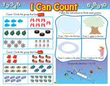 Kindergarten Workbook (Floorpad): Reading, Math and more: Colourful large-format - Canadian Curriculum Press