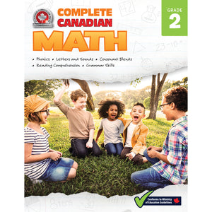 This jumbo, full-colour workbook, which includes practice quizzes with an answer key, will give children the tools they need to build their skills in areas such as addition, subtraction, early multiplication concepts, measurement, graphing, fractions, time and money, and geometry. By following the curriculum taught in Canadian schools, the Grade 2 Complete Canadian Math workbook will give children the confidence required to excel in the classroom and beyond.