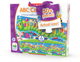 "Kids will ""inch"" their way through learning the alphabet with this fun ABC Caterpillar puzzle. Measuring 5 feet long this colorful caterpillar features letters and objects with the same beginning sound. With  51 pieces this jumbo puzzle will keep your little ones engaged for hours. Ages 3+ years."