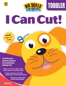 The Big Skills for Little Hands series features fun activity pages that teach your child important skills necessary for kindergarten. Your child will have fun cutting, pasting, folding, drawing, tracing, and coloring his or her way to school success! After completing this book, your child will be proud to say . . . I Can Cut!