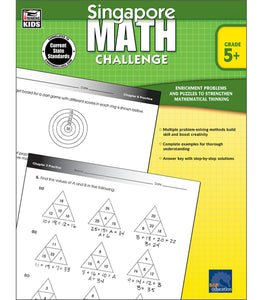 Singapore Math Challenge Workbook Grade 5 - Canadian Curriculum Press