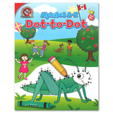 This Alphabet A-Z Dot-to-Dot activity book includes 64 colourful Canadian puzzles. Children will enjoy practising alphabetical order and recognition of upper- and lowercase letters, and will even get to colour the illustrations once all the numbers are connected! This activity book is great for quiet time and complements Canadian Curriculum Press's educational workbooks. 64 pages // ISBN: 9781487602956