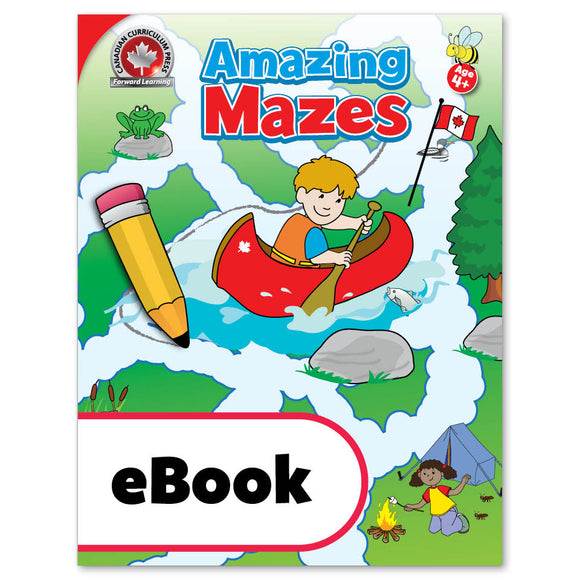 This colourful Canadian Amazing Mazes activity book includes 64 full-colour mazes. Not only will these fun and interesting mazes keep children occupied during quiet times, but they will also help develop attention to detail and improve pencil control.  64 pages ISBN: 9781487606428