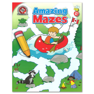 This colourful Canadian Amazing Mazes activity book includes 64 full-colour mazes. Not only will these fun and interesting mazes keep children occupied during quiet times, but they will also help develop attention to detail and improve pencil control. 64 pages // ISBN: 9781487602963
