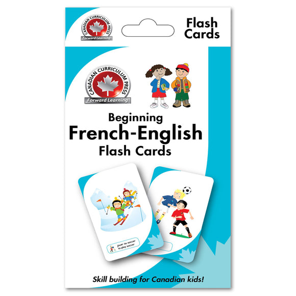 Canadian Curriculum Press Learning Flash Cards series offers a fun and fast way to master important skills such as addition, subtraction, phonics, French-English vocabulary, and much more. By reviewing the cards frequently through drills and games, children will be prepared for success in the classroom and beyond ISBN: 9781487602666