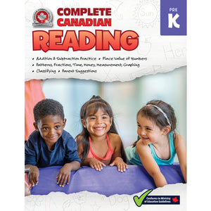 This jumbo, full-colour workbook, which includes a pre-kindergarten developmental skills checklist, practice quizzes, and ideas for easy at-home learning activities, will give children the tools they need to build a solid foundation of reading and writing skills. By following the curriculum taught in Canadian schools, the lessons and activities in the Pre-K Complete Canadian Reading workbook will give children confidence to excel in the classroom and beyond. 352 pages // ISBN: 9781770629066