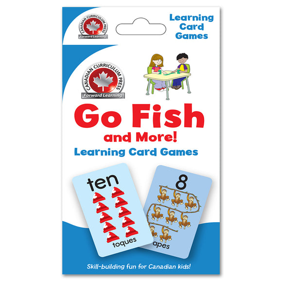 Canadian Curriculum Press Learning Flash Cards series offers a fun and fast way to master important skills such as addition, subtraction, phonics, French-English vocabulary, and much more. By reviewing the cards frequently through drills and games, children will be prepared for success in the classroom and beyond ISBN: 9781487602703