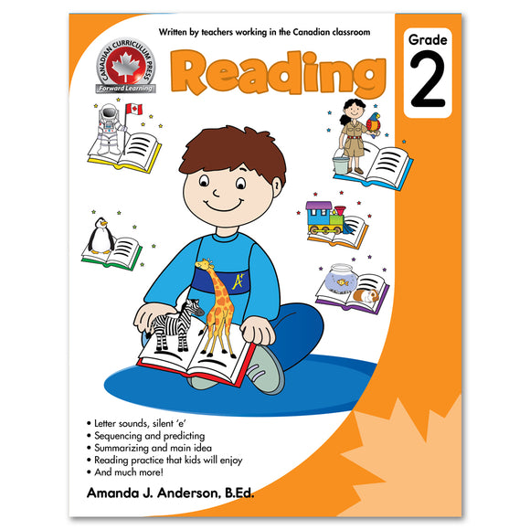 Its activities focus on letter sounds, the silent 'e', sequencing and predicting, summarizing, main ideas, and much more. Using fun Canadian themes, the workbook allows children to practise reading in ways they will enjoy. Written by a teacher working in a Canadian classroom, this book fosters stronger readers and prepares young minds for success in the classroom. 64 pages // ISBN: 9781487602802