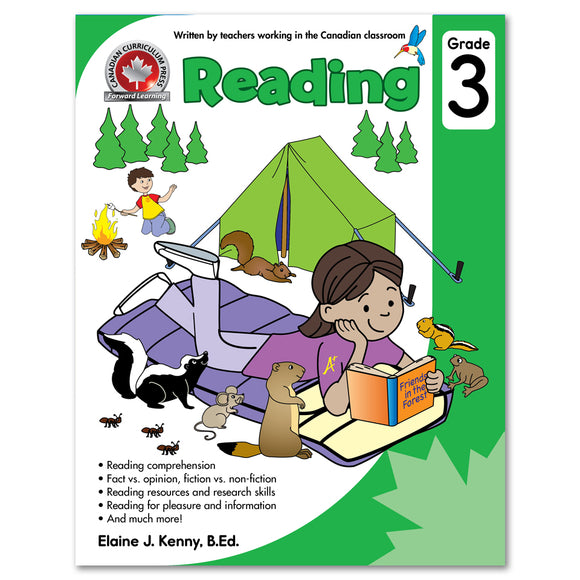 Grade 3 Reading: Reading comprehension, Fact vs. opinion, fiction vs. non-fiction, Reading resources and research skills - Canadian Curriculum Press