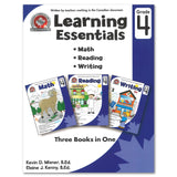 Learning Essentials Grade 4: Math, Reading, Writing - 3 Books in 1 - Canadian Curriculum Press