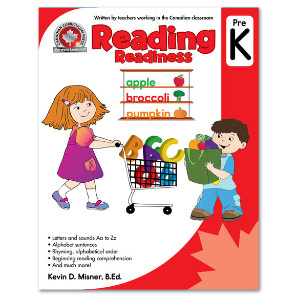 Reading Pre-Kindergarten Workbook - Canadian Curriculum Press