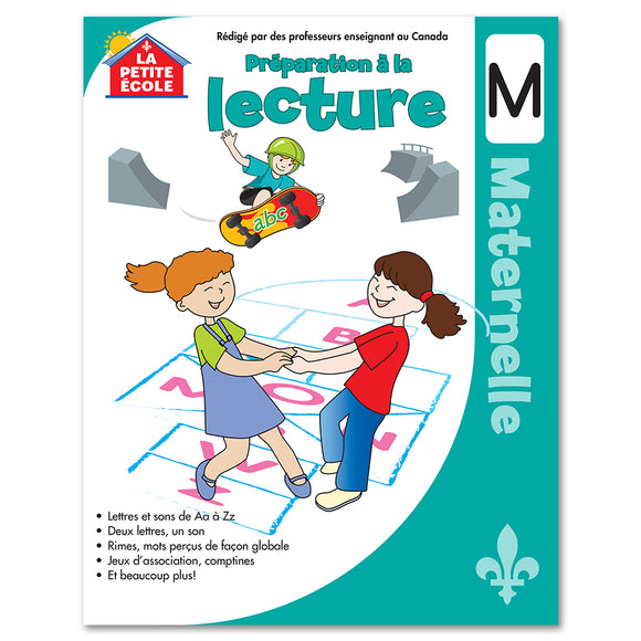 Préparation à la lecture en maternelle │French Educational Workbooks - Canadian Curriculum Press