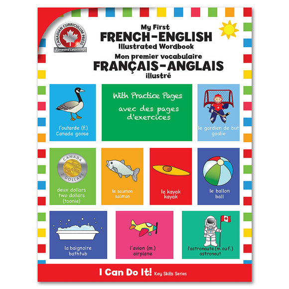 My First French-English Illustrated Wordbook - Canadian Curriculum Press