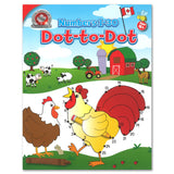 This Numbers 1-30 Dot-to-Dot activity book includes 64 colourful Canadian dot-to-dot puzzles. Children will enjoy practicing counting from 1 to 30 throughout the book, and will even get to colour in the illustrations when all of the dots are connected! This activity book is great for quiet time and complements Canadian Curriculum Press's educational workbooks.