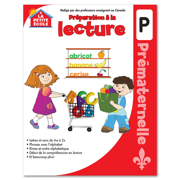 Préparation à la lecture en prématernelle│French Educational Workbooks - Canadian Curriculum Press