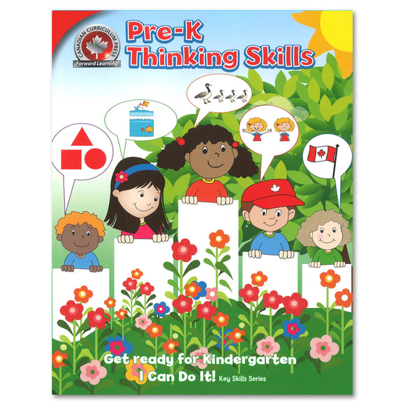 Thinking Skills Pre-Kindergarten Workbook - Canadian Curriculum Press