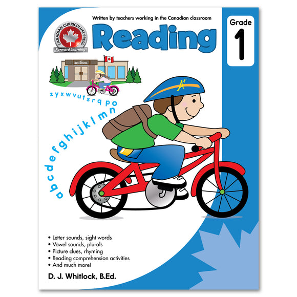 The full-colour CCP Grade 1 Reading workbook helps children practise key reading skills that are part of the Grade 1 curriculum across Canada.  Written by a teacher working in a Canadian classroom, this book fosters stronger young readers and prepares them for success in the classroom. 64 pages // ISBN: 9781487602796