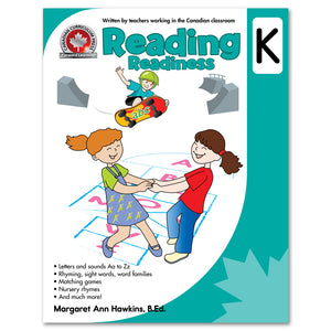 The full-colour CCP Kindergarten Reading Readiness workbook helps children practise key early reading skills that are part of the kindergarten curriculum across Canada. Its colourful activities develop recognition of letters and sounds from Aa to Zz and build early word skills through practice of rhyming, sight words, word families, matching, nursery rhymes, and much more. This book fosters early reading skills and confidence in the classroom. 64 pages // ISBN: 9781487602772