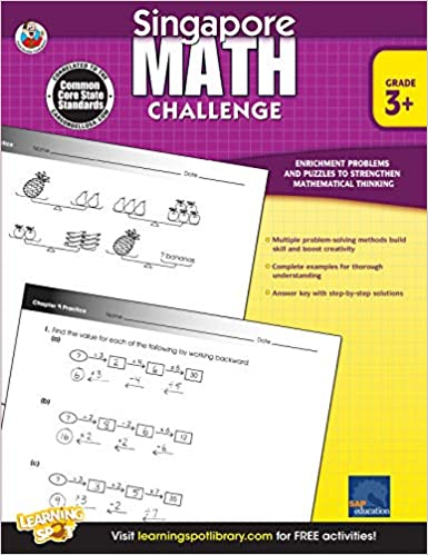 Singapore Math Challenge Workbook Grade 3+ - Canadian Curriculum Press