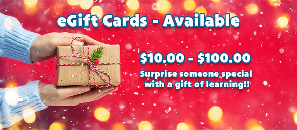 eGIFT CARDS NOW AVAILABLE