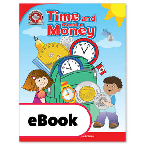 "Young children feel rightly proud when they have mastered the key life skills of telling time and understanding money. Through colourful step-by-step activities, the Time and Canadian Money workbook guides children to tell time using analog and digital clocks; to use a calendar; to understand days, months, and seasons; to recognize and understand the value of Canadian coins and bills; and to answer the important question, ""Do I have enough money?""  64 pages // ISBN: 9781487606350"