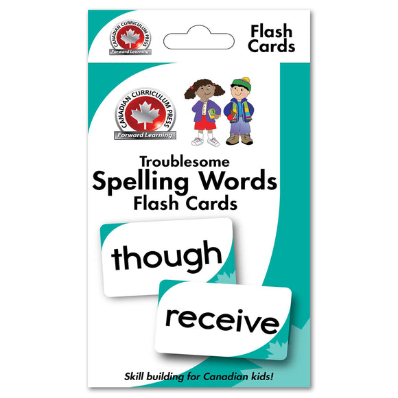 Flashcards - Troublesome Spelling Words - Canadian Curriculum Press