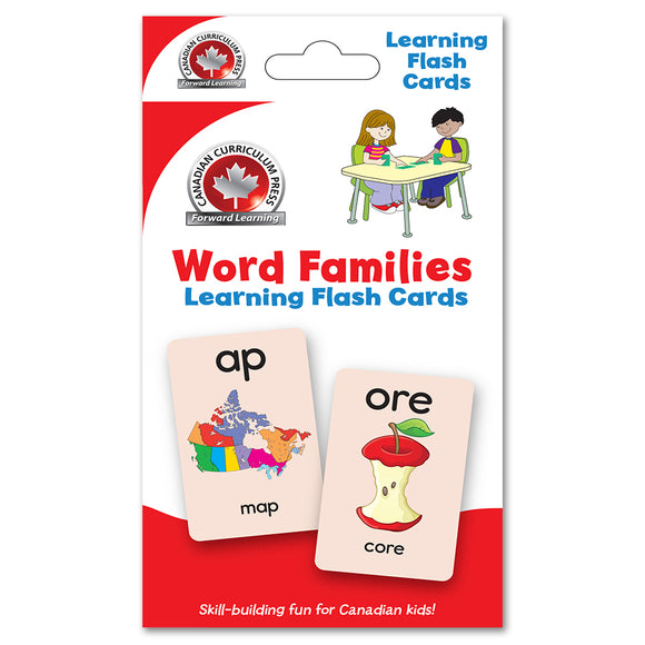 Canadian Curriculum Press Learning Flash Cards series offers a fun and fast way to master important skills such as addition, subtraction, phonics, French-English vocabulary, and much more. By reviewing the cards frequently through drills and games, children will be prepared for success in the classroom and beyond. ISBN: 9781487602680
