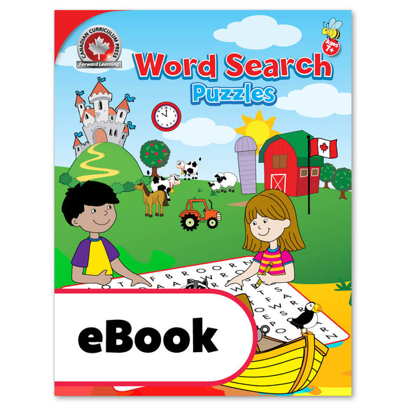 Your child will find solving these colourful word search puzzles an absorbing activity for quiet times—riding in the car, sitting in a waiting room, or waiting at a restaurant. This puzzle book also contains lots of Canadian themes that say