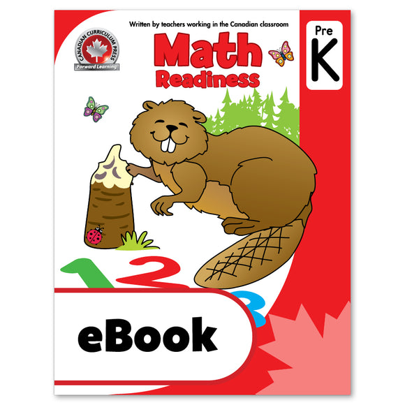 eBook Math Readiness Pre-Kindergarten Workbook - Canadian Curriculum Press