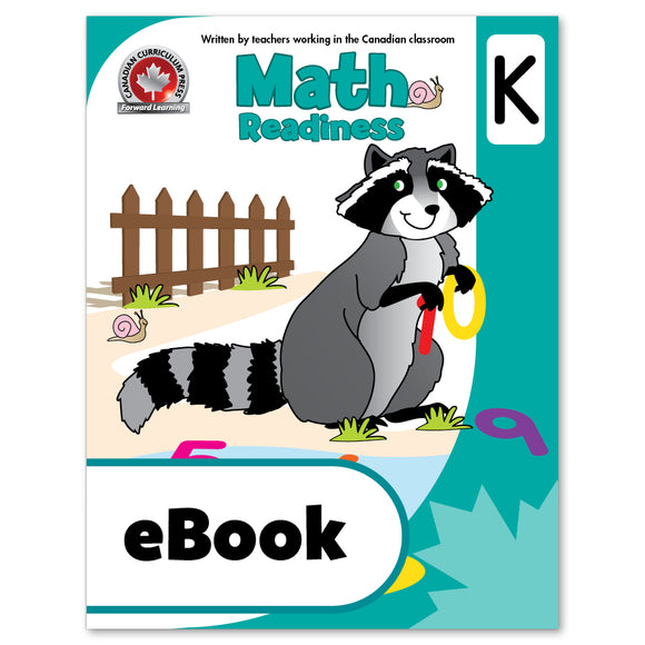 eBook Math Kindergarten Workbook - Canadian Curriculum Press