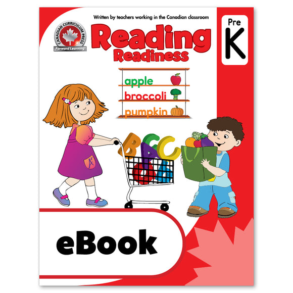 eBook Reading Pre-Kindergarten Workbook - Canadian Curriculum Press