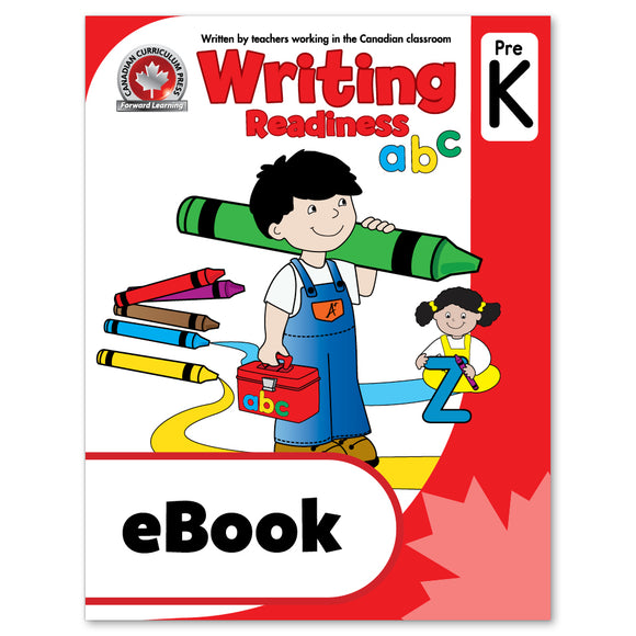 eBook Writing Readiness Pre-Kindergarten Workbook - Canadian Curriculum Press