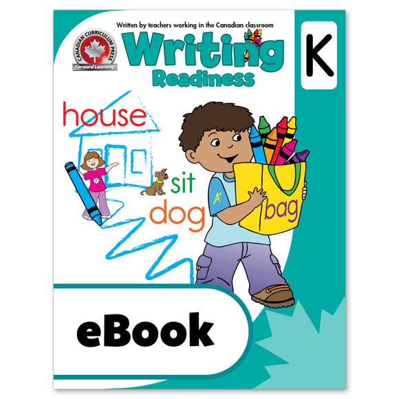 eBook Writing Kindergarten Workbook - Canadian Curriculum Press
