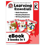 eBook Learning Essentials Pre-Kindergarten: 3 Books in 1 Workbook - Canadian Curriculum Press