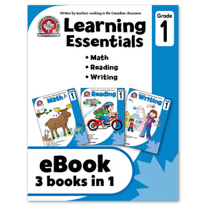 eBook Learning Essentials Grade 1 - Three Books in One Workbook - Canadian Curriculum Press