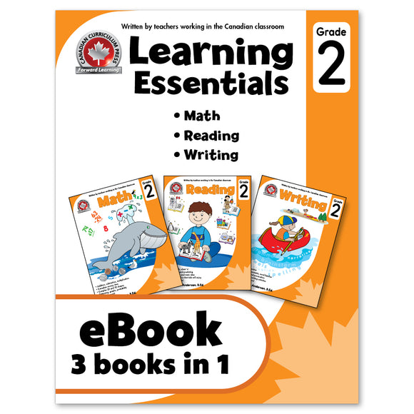 eBook Learning Essentials Grade 2 - Three Books in One- Workbook - Canadian Curriculum Press