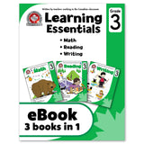 eBook Learning Essentials Grade 3 - Three Books in One - Workbook - Canadian Curriculum Press