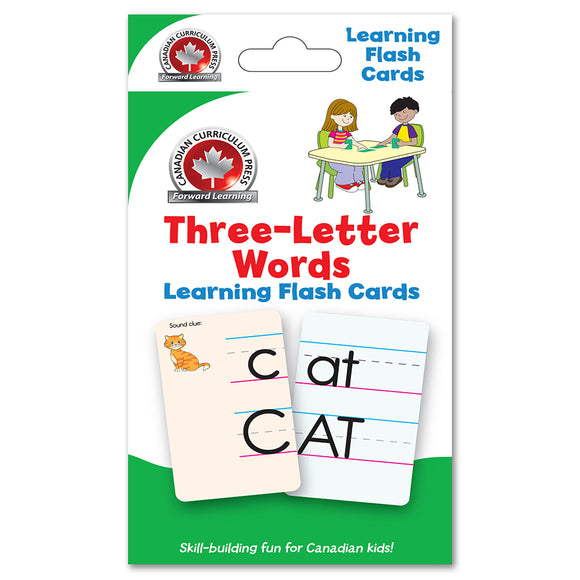 Flashcards - Three Letter Words - Canadian Curriculum Press