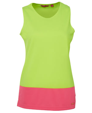 Ladies Hi Vis Traditional Singlet - New Age Biohealth