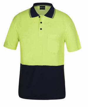 Hi Vis S/S Bamboo Back Polo - New Age Biohealth