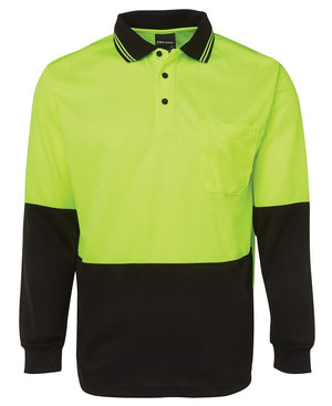 Hi Vis L/S Trad Polo - New Age Biohealth